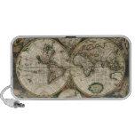 Impresión del mapa del mundo 1689 altavoz de viaje