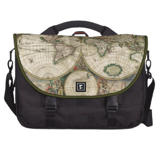 Impresión del mapa del mundo 1689 bolsas para portatil