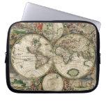 Impresión del mapa del mundo 1689 mangas portátiles