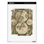 Impresión del mapa del mundo 1689 pegatinas skins para iPad 3