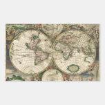Impresión del mapa del mundo 1689 rectangular altavoz