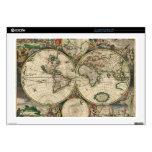 Impresión del mapa del mundo 1689 skins para 43,2cm portátiles