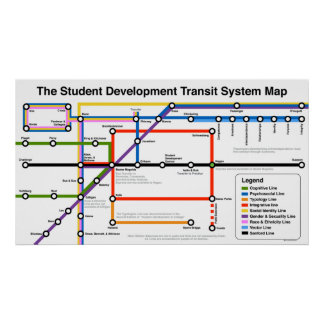 Impresión del mapa del sistema de transporte del impresiones