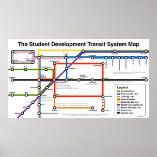 Impresión del mapa del sistema de transporte del póster