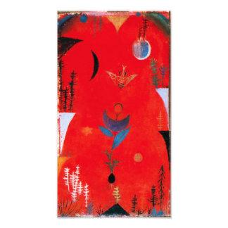 Impresión del mito de la flor de Paul Klee Cojinete