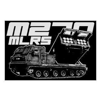Impresión del MLRS M270 Póster