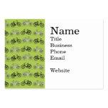 Impresión del modelo de las bicicletas del verde d tarjeta de negocio