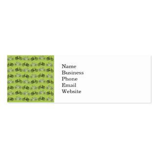 Impresión del modelo de las bicicletas del verde tarjetas de visita mini
