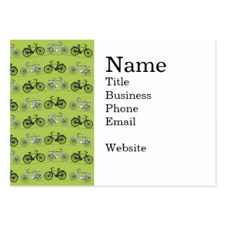 Impresión del modelo de las bicicletas del verde tarjetas de visita grandes