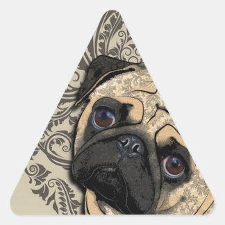 Impresión del modelo del mascota del extracto del pegatina triangular