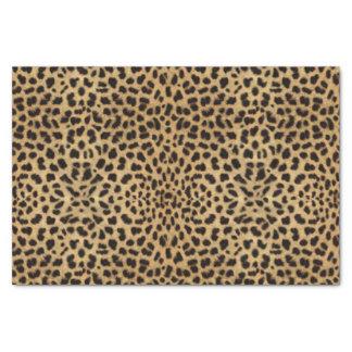 Impresión del modelo del punto del leopardo papel de seda pequeño