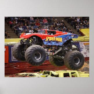 Impresión del monster truck de Spidey Póster