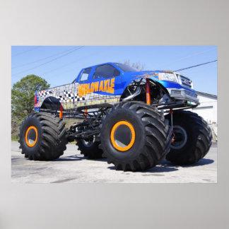 Impresión del monster truck póster
