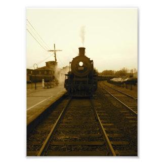 Impresión del motor de vapor fotografía