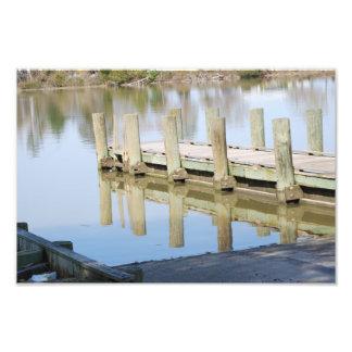 Impresión del muelle del río impresion fotografica