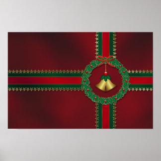 Impresión del navidad de las barras y estrellas impresiones