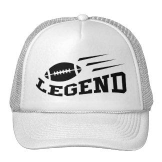 Impresión del negro de la leyenda del fútbol gorra