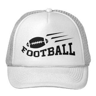 Impresión del negro del fútbol gorras
