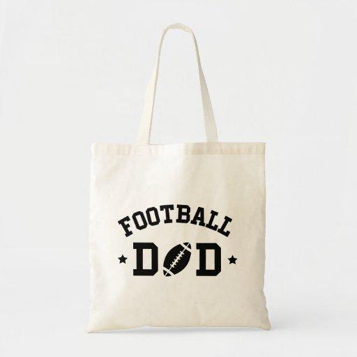 Impresión del negro del papá del fútbol en la bolsas