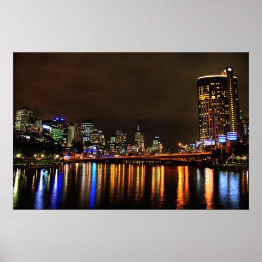 Impresión del Nightline de Melbourne Australia Poster