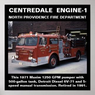 Impresión del norte de Centredale Engine-1 Provide Póster