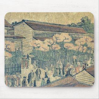 Impresión del nuevo yoshiwara por Utagawa, Toyokun Tapetes De Ratón