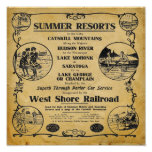 Impresión del oeste del ferrocarril de la orilla poster