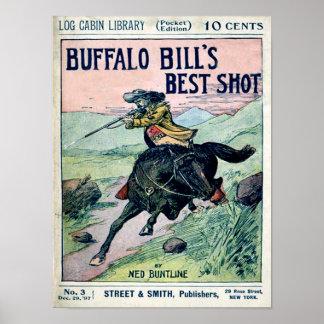Impresión del oeste salvaje de Buffalo Bill Póster