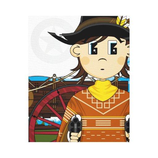 Impresión del oeste salvaje de la lona del sheriff impresiones en lienzo estiradas