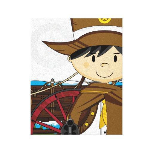 Impresión del oeste salvaje de la lona del sheriff lona estirada galerías