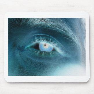 Impresión del ojo azul alfombrilla de ratones
