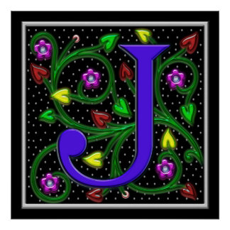 Impresión del Ornamental II de la letra J Posters