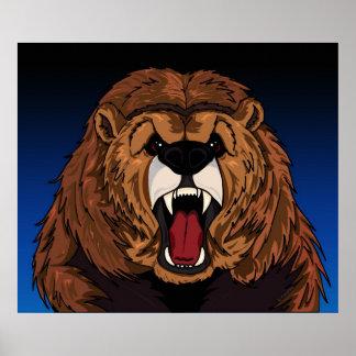 Impresión del oso grizzly impresiones