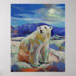 Impresión del oso polar póster