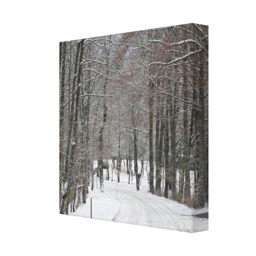 Impresión del país de las maravillas del invierno impresiones en lona