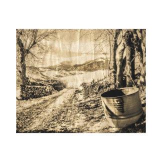 Impresión del paisaje del vintage de Abruzos, Ital Impresión En Lienzo Estirada