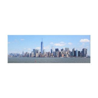 Impresión del paisaje urbano de Nueva York en la l