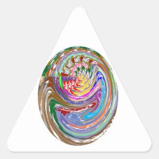 Impresión del PALO del CASCO: Gráficos de NOVINO Pegatina Triangular