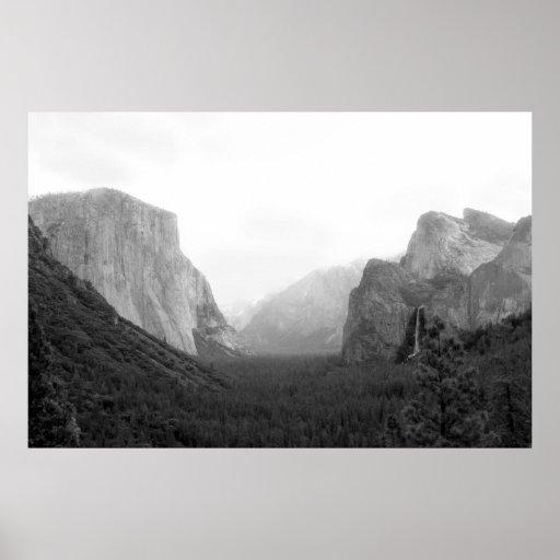 Impresión del parque nacional de Yosemite Póster