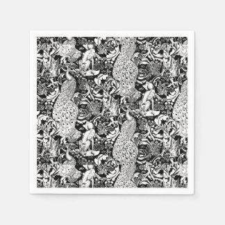 Impresión del pavo real de Nouveau del arte, Servilleta Desechable