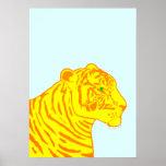 Impresión del perfil del tigre impresiones