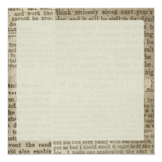 """Impresión del periódico del vintage invitación 5.25"""" x 5.25"""""""