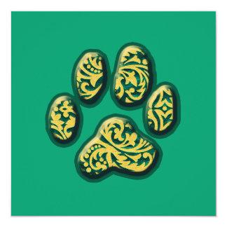 Impresión del perrito de Paisley Invitación 13,3 Cm X 13,3cm