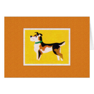 Impresión del perro de Terrier del vintage Tarjeta Pequeña