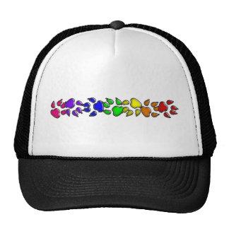 impresión del perro del arco iris gorras