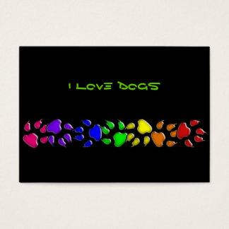 impresión del perro del arco iris tarjetas de visita grandes