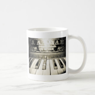 Impresión del piano del vintage taza