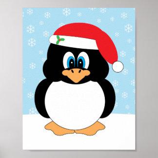 Impresión del pingüino del navidad