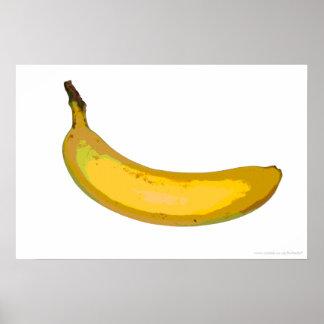 Impresión del plátano del arte pop posters