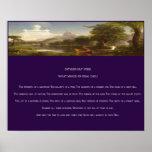 Impresión del poema del día de padre poster